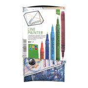 Caneta Técnica Nankin Derwent Graphik Line Painter N2 0.5 5 Cores 301345 29274