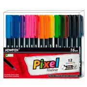 Caneta Ultrafine Newpen Pixel 16 Cores 0,5mm 16.025 28489