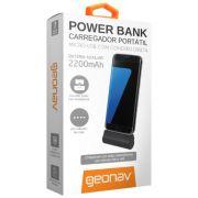 Carregador Geonav Portatil Micro USB 2200Mah Preto Pb2200B 24734