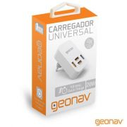 Carregador Geonav Universal 4 Saidas USB 4A Preto  Ch40Ac 24210