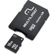Cartão de Memoria 16Gb Com Adaptador Multilaser MC110 24746
