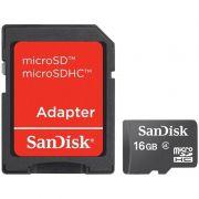 Cartão de Memória Sandisk 16gb MicroSD Com Adaptador 25759