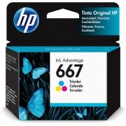 Cartucho de Tinta HP 667 Colorido Original (3YM78AL) 29290