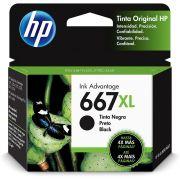 Cartucho de Tinta HP 667 XL Preto Original (3YM81AL) 29293