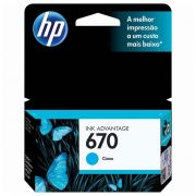 Cartucho HP 670 Ciano Original (CZ114AB) 17562