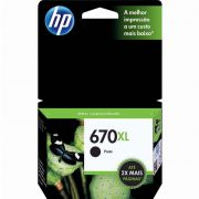 Cartucho HP 670 XL Preto Original (CZ117AB) 17565