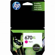 Cartucho HP 670 XL Magenta Original (CZ119AB) 17567