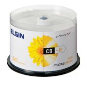 CD-R Elgin 700Mb 80Min Tubo Com 50 Un. Printable 82203 /82201 10103
