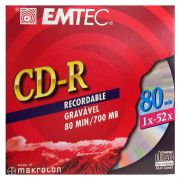 CD-R Emtec 700Mb 80Min 52X Envelopado 14624
