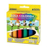 Cola Colorida Acrilex 6 Cores 2606 03952