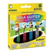 Cola Com Glitter Acrilex 6 Cores 2923 03955