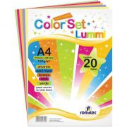 Color Set Lummi Romitec A4 120Gr Com 20 Fls 4352R 25298
