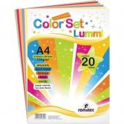 Color Set Lummi Romitec A4 120Gr Com 20 Fls 4352R 25298