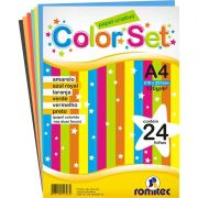 Color Set Romitec A4 120Gr com 24 Fls 4306R 25299