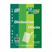 Divisória Cristal para Fichário Universitário 10 Div com Visor Oficio 10Intbcr Yes 12518