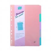 Divisória Para Fichário Yes A4 Com 5 Divisórias Tons Pastel 5TBES 27666