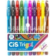Estojo Cis Caneta Trigel Fashion 1.0mm 10 Cores 57.6800 29051