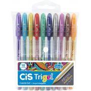 Estojo Cis Caneta Trigel Metalica 1.0mm 10 Cores 57.6700 29050