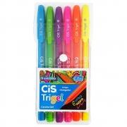 Estojo Cis Caneta Trigel Neon 1.0mm 6 Cores 57.6500 29048