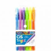 Estojo Cis Caneta Trigel Pastel 0.8mm 6 Cores 57.6600 29049