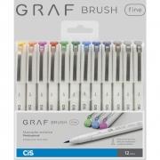 Estojo Cis Marcador Graf Brush Fine 12 Cores 59.9600 29055