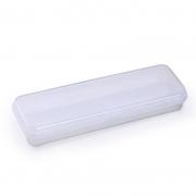 Estojo Escolar Plastico Waleu Plus Branco 10080010 25089
