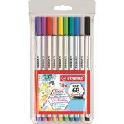 Estojo Stabilo Caneta Pen Brush 10 Cores 46.9223 29108