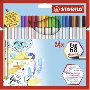 Estojo Stabilo Caneta Pen Brush 24 Cores 46.9224 29109