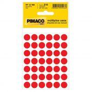 Etiqueta Pimaco Tp 12 Vm Vermelha 14431