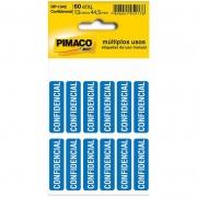 "Etiqueta Pimaco Autoadesiva ""Confidencial"" 60 Un. 13X44,5Mm Op-1342 15898"