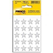 Etiqueta Pimaco Autoadesiva Estrela Prata 100 Un 935260 22408