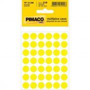 Etiqueta Pimaco Tp 12 Am Amarela Redonda 15123