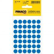 Etiqueta Pimaco Tp 12 Az Azul Redonda 14668