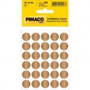 Etiqueta Pimaco Tp 16 Ou Ouro Redonda 14670
