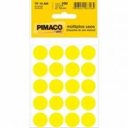 Etiqueta Pimaco Tp 19 Am Amarelo Redonda 15680