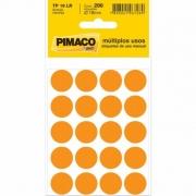 Etiqueta Pimaco Tp 19 Lr Laranja Redonda 15246