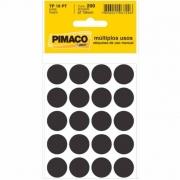 Etiqueta Pimaco Tp 19 Pt Preto Redonda 15247