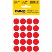 Etiqueta Pimaco Tp 19 Vm Vermelha Redonda 15245