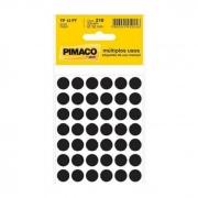 Etiqueta Pimaco Tp 12 Pt Preto Redonda 14430