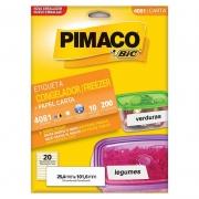 Etiqueta Pimaco Congelador / Freezer Carta 25,4X101,6Mm Com 200 Un 4081 18508