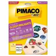 Etiqueta Pimaco Glossy 104Gr Carta 279,4X215,9 10 Fls 7074 11517
