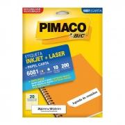 Etiqueta Pimaco Inkjet + Laser - 6081 00901