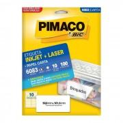 Etiqueta Pimaco Inkjet + Laser - 6083 00107