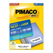 Etiqueta Pimaco Inkjet + Laser - 6182 00692