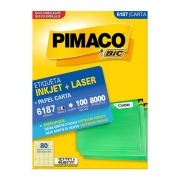 Etiqueta Pimaco Inkjet + Laser - 6187 01182