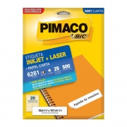 Etiqueta Pimaco Inkjet + Laser - 6281 00632
