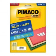 Etiqueta Pimaco Inkjet + Laser - A4256 00096