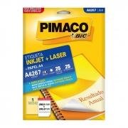 Etiqueta Pimaco Inkjet + Laser - A4267 02177