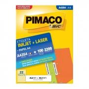 Etiqueta Pimaco Inkjet + Laser - A4354 05813