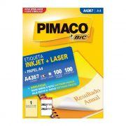 Etiqueta Pimaco Inkjet + Laser - A4367 02183
